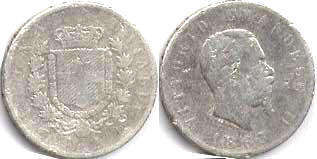 coin Italy 2 lire 1863