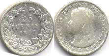 coin Netherlands 25 cents 1897