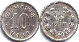 coin Romania 10 bani 1900