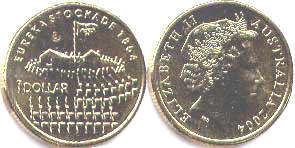 australian commemmorative coin 1 dollar 2004