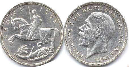coin UK old coin crown 1935