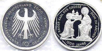 coin Germany 10 mark 2000