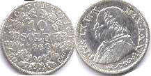 coin Papal State 10 soldi 1868