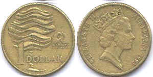 australian commemmorative coin 1 dollar 1993