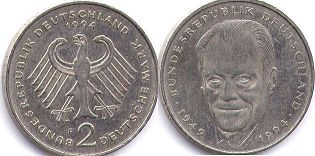 coin Germany 2 mark 1994