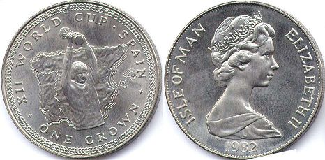 coin Isle of Man crown 1982