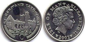 coin Isle of Man 10 pence 2001