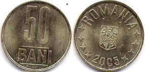 coin Romania 50 bani 2005