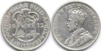 old coin South Africa 2 shillings 1932