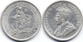 old coin South Africa 1 shilling 1923