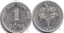 coin South Viet Nam 1 dong 1971