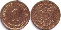 coin German Empire 1 pfennig 1913