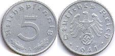 coin Nazi Germany 5 pfennig 1941