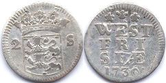 coin West Friesland 2 stuvers 1730