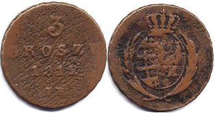 coin Poland 3 grosch 1812