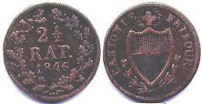 coin Fribourg 2,5 rappen 1807