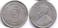 old coin South Africa 3 pence 1924