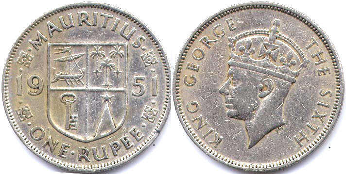 Mauritius - online free coins catalog with photos and values