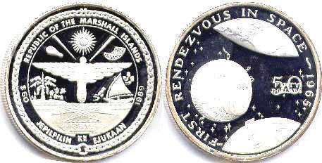 coin Marshall Islands 50 dollars 1989