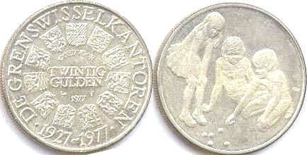coin Netherlands 20 gulden 1977