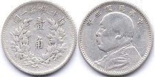 coin chinese 20 cents 1916 silver