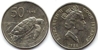 coin Cook Islands 50 cents 1988