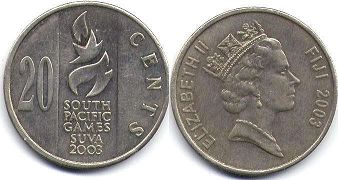 coin Fiji 20 cents 2003