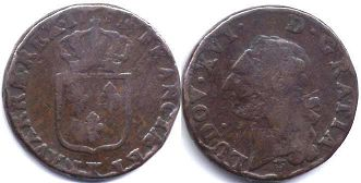 coin France 1/2 sol 1791