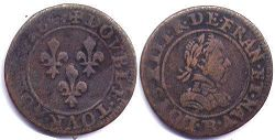 coin France double denier 1618