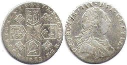 coin UK old coin 1 shilling 1787