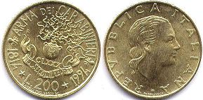 coin Italy 200 lire 1994