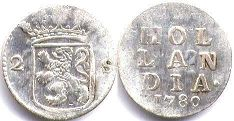 coin Holland 2 stuvers 1780