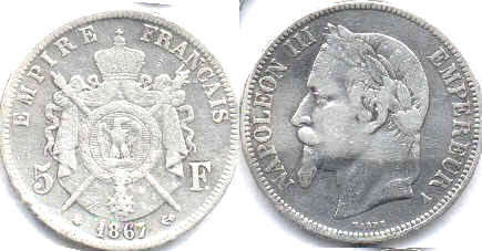 France - online free coins catalog with photos and values