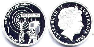 australian commemmorative coin 1 dollar 2006