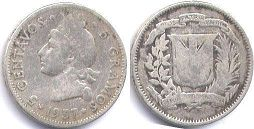 coin Dominican Republic 5 centavos 1937