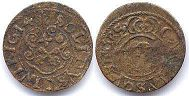 coin Riga solidus 1614 (error in date)