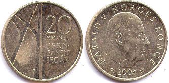 coin Norway 20 kroner 2004