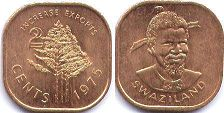 coin Swaziland 2 cents 1975