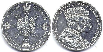 coin Prussia 1 taler 1861