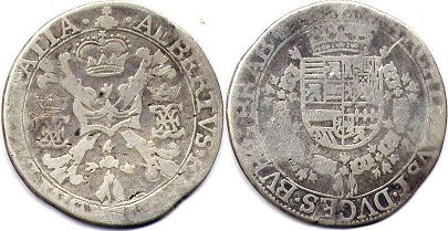 coin Spanish Netherlands 1/2 patagon ND (1612-1621)