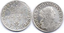 coin Dombes 1/12 ecu 1655