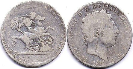 coin UK old coin crown 1819