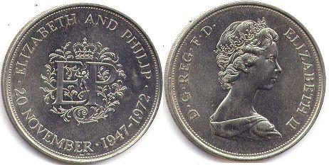 coin UK coin 25 new pence 1972
