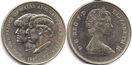 coin UK coin 25 new pence 1981