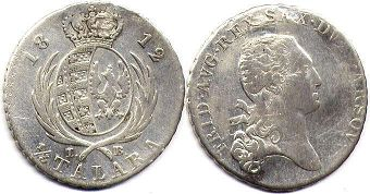coin Poland 1/3 taler 1812