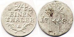 coin Prussia 1/24 taler 1782