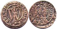 coin Prussia solidus 1654