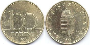 coin Hungary 100 forint 1995