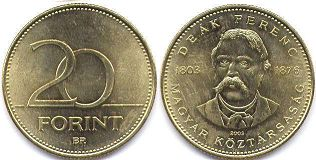 coin Hungary 20 forint 2003