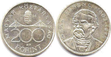 coin Hungary 200 forint 1994